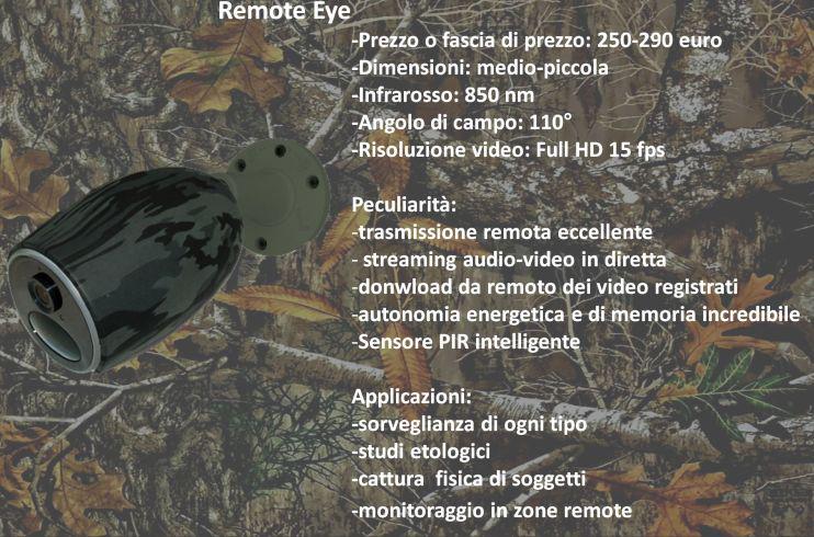 Fototrappola remota Remote-Eye
