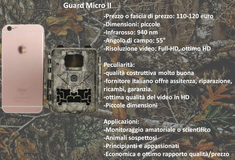 Fototrappola piccola guard micro