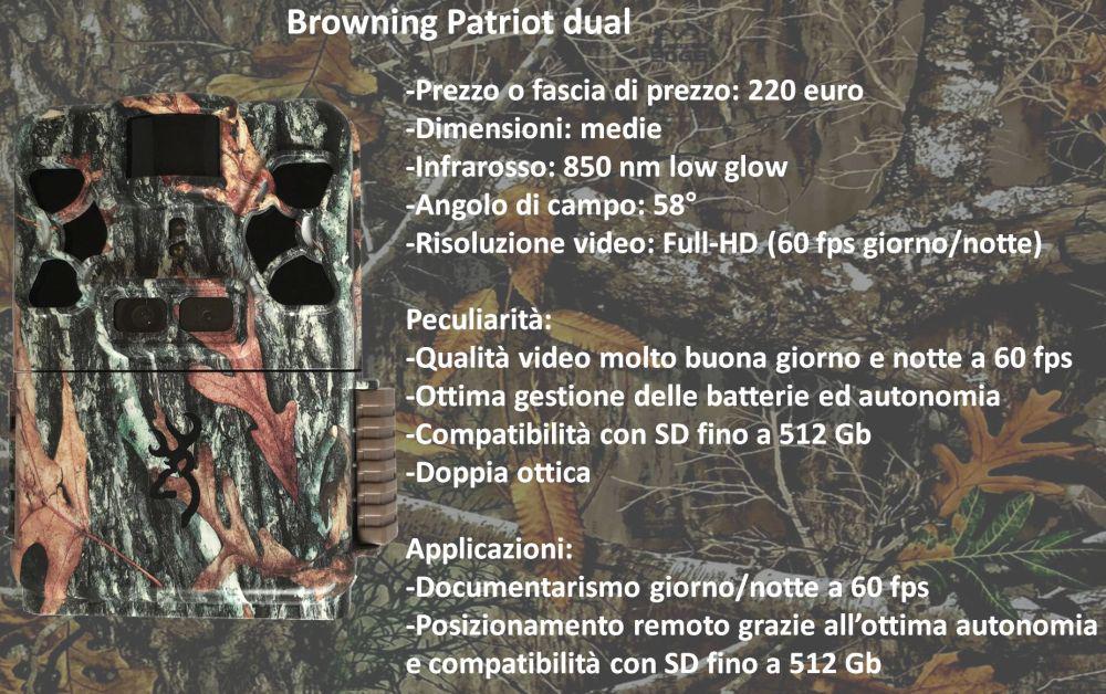 fototrappola Browning doppia ottica